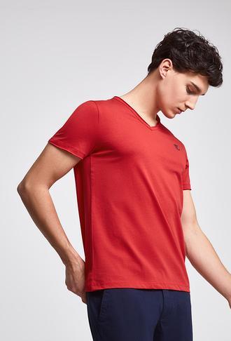 Twn Slim Fit Kırmızı Düz T-shirt - 8682445308563 | D'S Damat