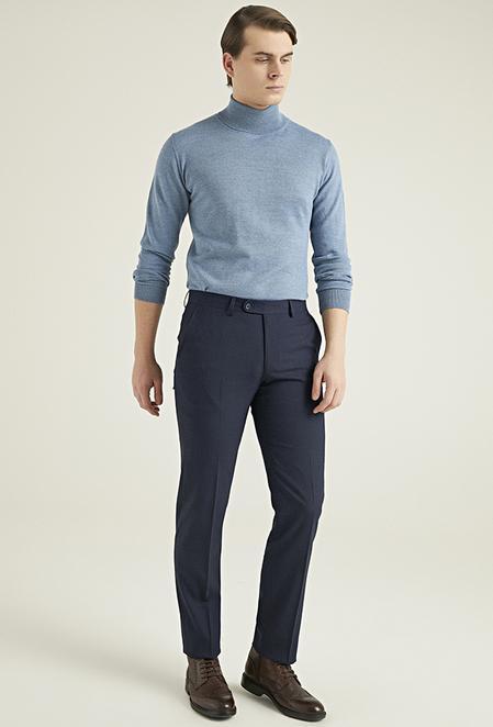 Ds Damat Slim Fit Lacivert Kumaş Pantolon - 8682445524123 | D'S Damat