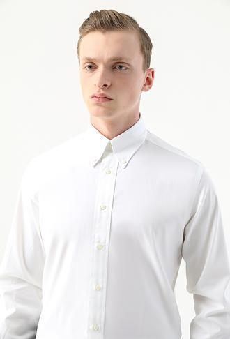 Damat Comfort Beyaz Düz Gömlek - 8682364799794 | Damat Tween