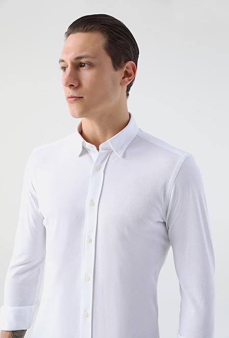 Tween Slim Fit Beyaz Gömlek - 8682364800049 | Damat Tween
