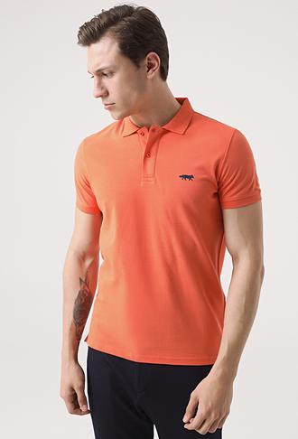 Twn Slim Fit Turuncu Pike Dokulu T-shirt - 8682060050366 | D'S Damat