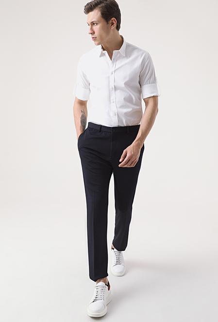 Tween Slim Fit Lacivert Örme Jogger Pantolon - 8682364657711 | Damat Tween