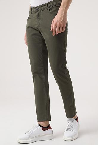 Tween Super Slim Fit Haki Chino Pantolon - 8682364543045 | Damat Tween