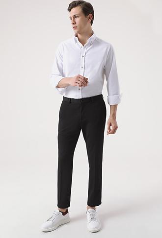 Tween Slim Fit Siyah Örme Jogger Pantolon - 8682364657797 | Damat Tween