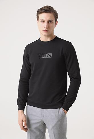 Twn Slim Fit Siyah Sweatshırt - 8682445182019 | D'S Damat