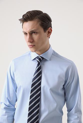 Ds Damat Regular Fit Mavi Düz Gömlek - 8682445044980   D'S Damat