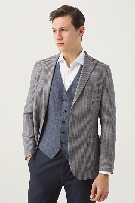 Tween Slim Fit Kahve Kombinli Takım Elbise - 8682364544288   Damat Tween