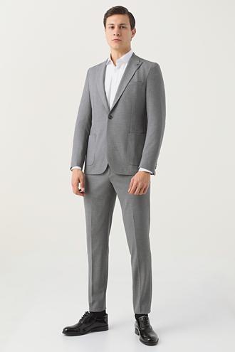 Tween Slim Fit Gri Takım Elbise - 8682364701537 | Damat Tween