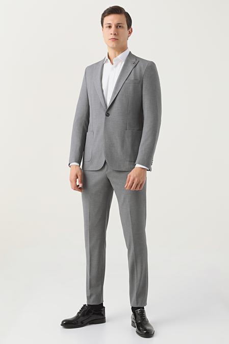 Tween Slim Fit Gri Takım Elbise - 8682364701537   Damat Tween