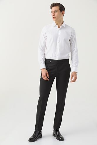 Tween Slim Fit Siyah Kumaş Pantolon - 8682364699391 | Damat Tween