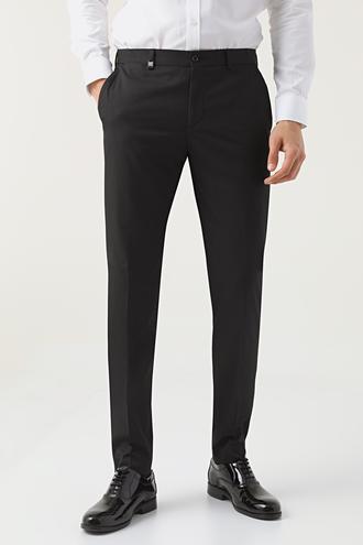 Tween Slim Fit Siyah Kumaş Pantolon - 8682364539130   Damat Tween