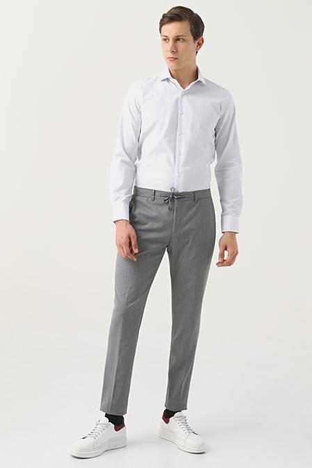 Tween Slim Fit Gri Kumaş Pantolon - 8682364701421 | Damat Tween