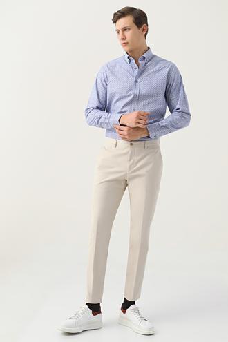 Damat Slim Fit Bej Chino Pantolon - 8682364633340 | Damat Tween