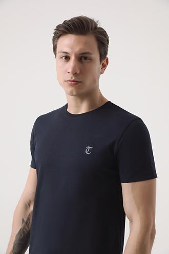 Twn Slim Fit Lacivert Düz T-shirt - 8682060049155 | D'S Damat