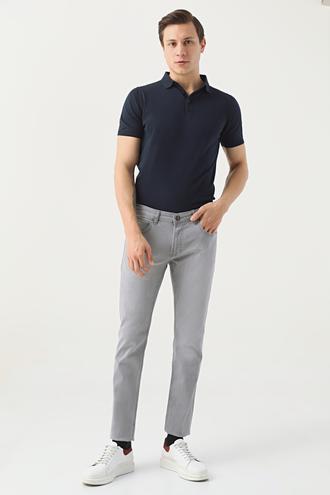 Twn Super Slim Fit Gri Taşlı Denim Pantolon - 8682445168396 | D'S Damat