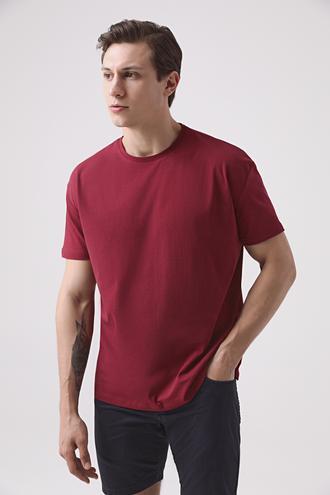 Ds Damat Oversize Bordo T-shirt - 8682445426267 | D'S Damat