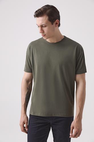 Ds Damat Oversize Haki T-shirt - 8682445426328 | D'S Damat
