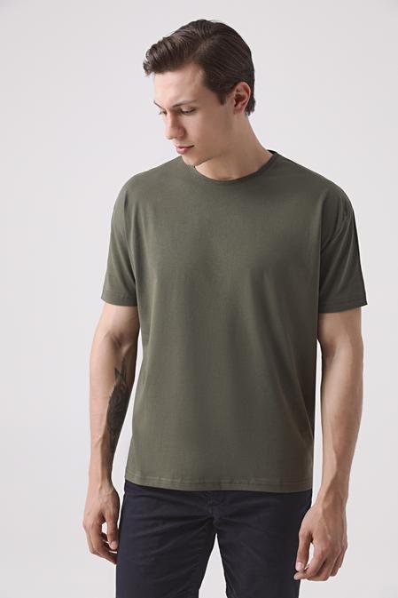 Ds Damat Oversize Haki T-shirt - 8682445426328   D'S Damat