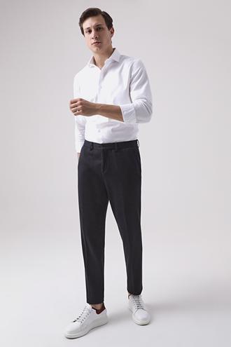 Damat Slim Fit Lacivert Örme Jogger Pantolon - 8682364644483 | Damat Tween