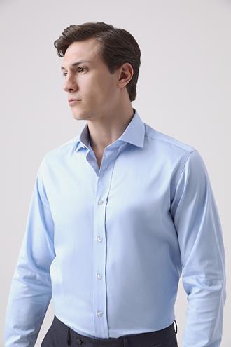 Ds Damat Regular Fit Mavi Düz Gömlek - 8682445211351   D'S Damat
