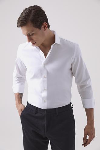 Damat Slim Fit Beyaz Gömlek - 8682364645282 | Damat Tween