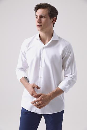 Damat Slim Fit Beyaz Gömlek - 8682364649396 | Damat Tween
