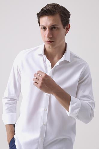 Tween Slim Fit Beyaz Gömlek - 8682364660636 | Damat Tween