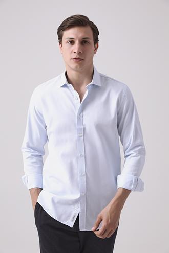 Tween Slim Fit Mavi Gömlek - 8682364699278 | Damat Tween