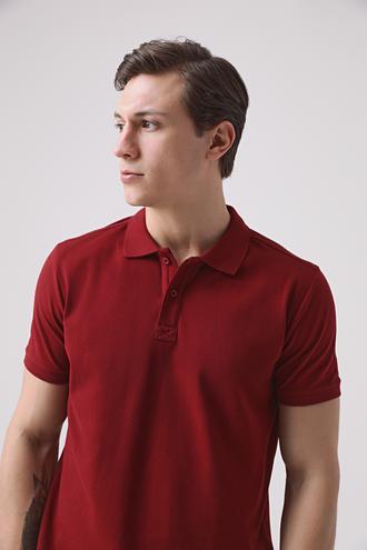 Ds Damat Regular Fit Bordo Pike Dokulu T-shirt - 8682445204582 | D'S Damat
