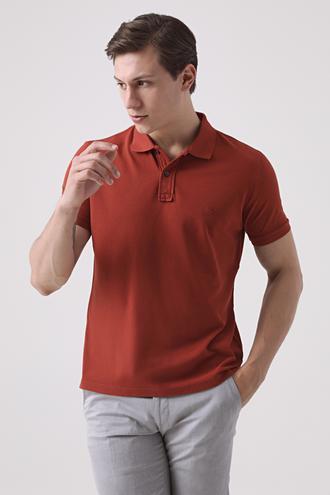 Ds Damat Regular Fit Kiremit Pike Dokulu T-shirt - 8682445084085 | D'S Damat