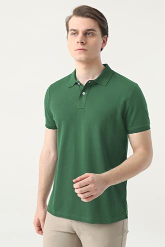 Ds Damat Slim Fit Yeşil Çizgili T-shirt - 8682445267013 | D'S Damat