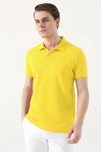 Ds Damat Slim Fit Sarı Çizgili T-shirt - 8682445267082 | D'S Damat