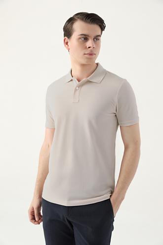 Ds Damat Slim Fit Gri Çizgili T-shirt - 8682445267242 | D'S Damat
