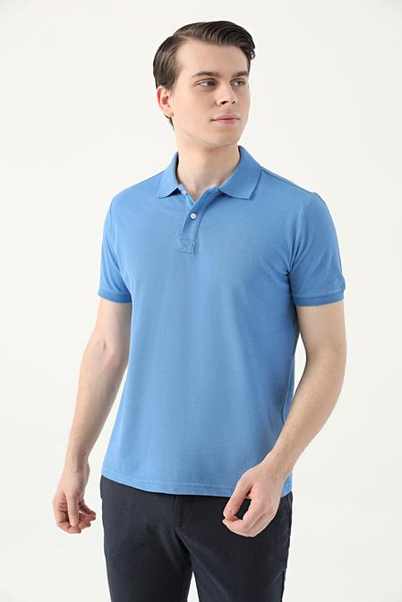 Ds Damat Slim Fit Mavi Çizgili T-shirt - 8682445267280 | D'S Damat