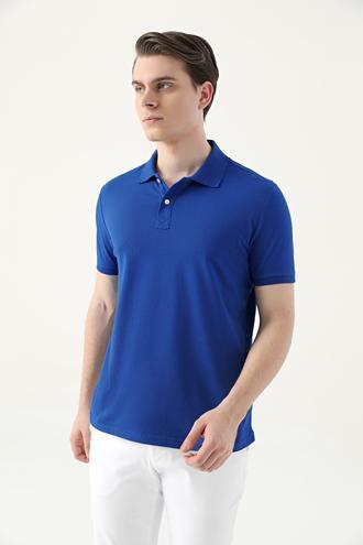 Ds Damat Slim Fit Saks Mavi Çizgili T-shirt - 8682445267341   D'S Damat
