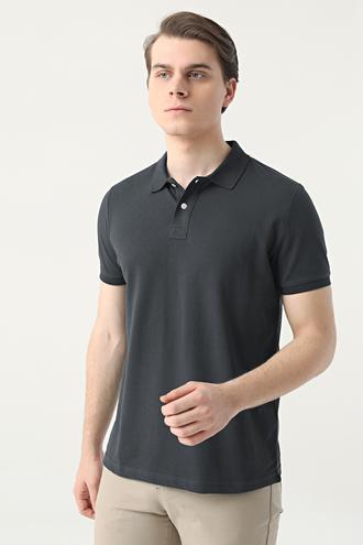 Ds Damat Slim Fit Antrasit Çizgili T-shirt - 8682445267501 | D'S Damat