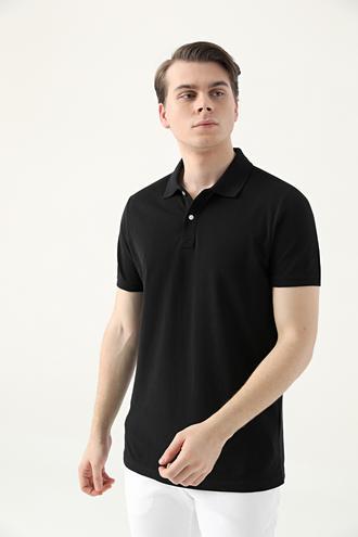 Ds Damat Slim Fit Siyah Çizgili T-shirt - 8682445266849   D'S Damat