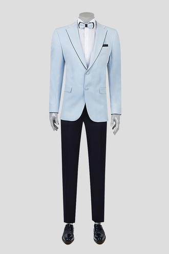 Ds Damat Slim Fit Slim Fit Mavi Düz Smokin Takım Elbise - 8681779326335   D'S Damat