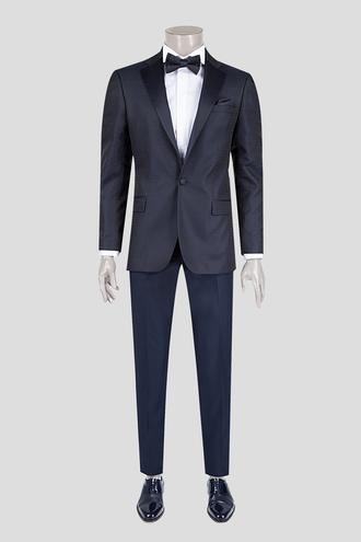 Ds Damat Slim Fit Lacivert Desenli Smokin Takım Elbise - 8681778239834 | D'S Damat