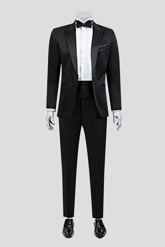 Ds Damat Slim Fit Siyah Jakar Desenli Smokin Takım Elbise - 8681778051764 | D'S Damat