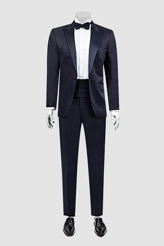 Ds Damat Slim Fit Lacivert Jakar Desenli Smokin Takım Elbise - 8681778051832 | D'S Damat