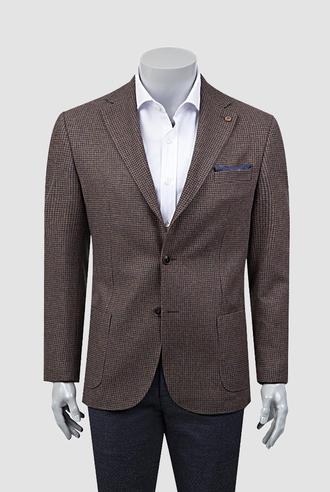 Damat Regular Fit Tarçın Desenli Kumaş Ceket - 8681649388937 | D'S Damat
