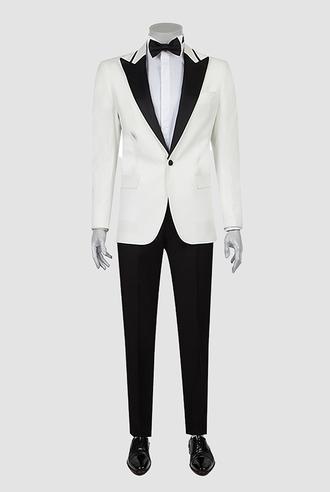 Ds Damat Slim Fit Beyaz Smokin Takım Elbise - 8681778098226 | D'S Damat