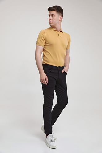 Ds Damat Slim Fit Siyah Armürlü Chino Pantolon - 8682445190274   D'S Damat
