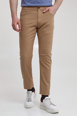 Ds Damat Slim Fit Camel Armürlü Chino Pantolon - 8682445190625 | D'S Damat
