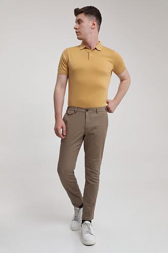 Twn Slim Fit Bej Armürlü Chino Pantolon - 8682445187847 | D'S Damat
