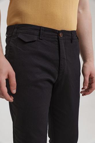 Twn Slim Fit Siyah Armürlü Chino Pantolon - 8682445188424   D'S Damat