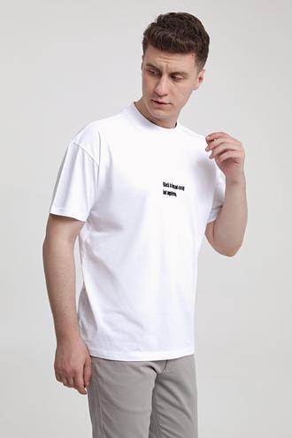 Twn Oversize Beyaz Baskılı T-shirt - 8682060951502 | D'S Damat