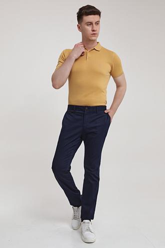 Ds Damat Slim Fit Lacivert Chino Pantolon - 8682445178500   D'S Damat