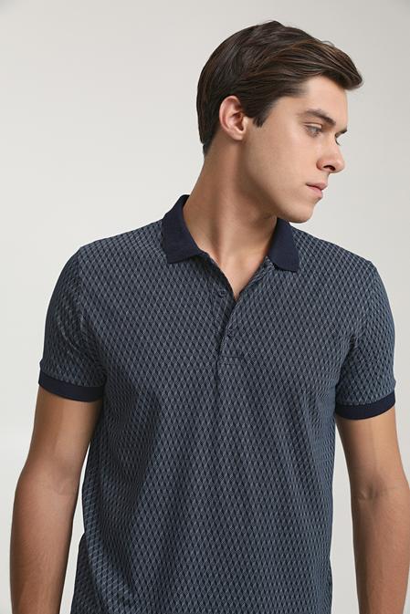 Ds Damat Regular Fit Lacivert Baskılı T-shirt - 6725695037493   D'S Damat
